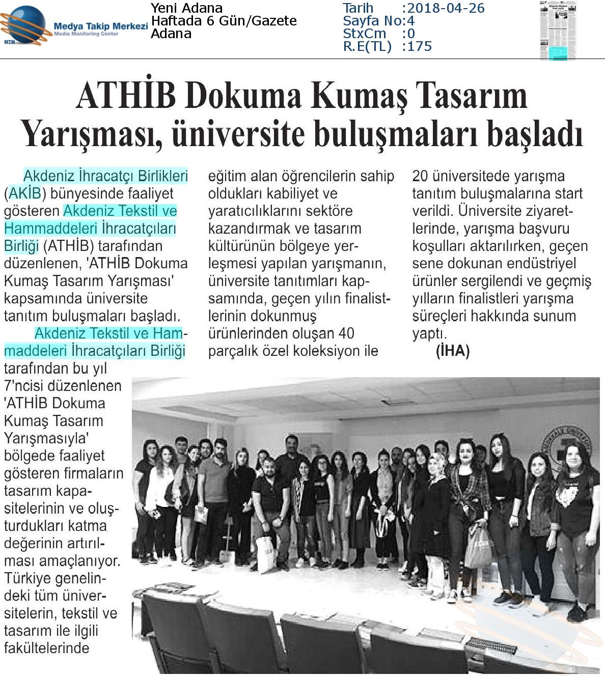 Yeni_Adana-ATHİB_DOKUMA_KUMAŞ_TASARIM_YARIŞMASI,_ÜNİVERSİTE_BULUŞMALARI_BAŞLADI-26.04.2018